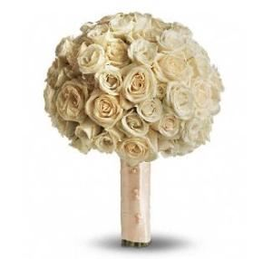 Blush Rose Bridal Bouquet, Agape Flowers & Gifts, Gaithersburg