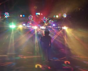 Sound Extremes Mobile DJ, Monroe — While nearly all our shows use less dance lighting that this, we thought you might want to see what we are capable of, especially for corporate events.  This is about 1/3 of the lighting that we can bring if necessary.