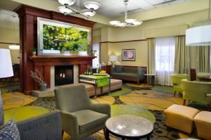 Family Reunion Dinner Buffets (starting at $19.95 per person), Hilton Garden Inn Detroit Downtown, Detroit — Hotel Lobby