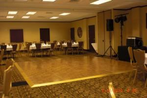 Founder's Ballroom, Odessa Holiday Inn, Odessa — Seating for 105 Banquet, can also accommodate a large dance floor and DJ area.