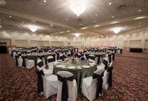 Wedding Package, Plaza Event Center, Longmont — A neatufitul wedding set up in our large ballroom.