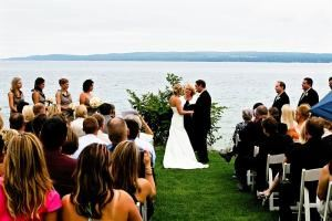 $300 Ceremony for Antrim, Kalkaska and Benzie Counties, Northern Michigan Wedding Officiants, Traverse City — Little Traverse Bay wedding at the Village Inn at Bay Harbor