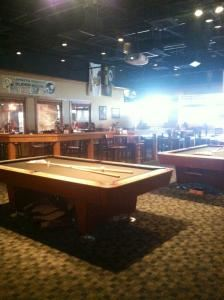 Game Room, Fox & Hound English Pub & Grill, Indianapolis — The Game Room seats up to 250 people, houses six pool tables, and 6 televisions for game watching!