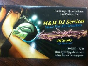 M&M DJ Services, Lubbock