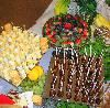 A Food Attitude, Atlanta — CHeese Display, Meatball Lollipops, and Fruit