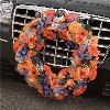 Fifty Point Flowers - Toronto, Toronto — Decor for the vehicle, a simple yet colourful wreath to symbolize your wedding.