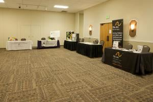 Longs Peak Ballroom, Summit Event Center, Aurora — Vendor tables for a conference