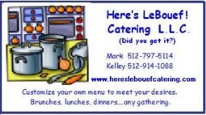 Here's LeBouef! Catering L.L.C.