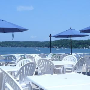 Lakefront Patio & Courtyard Rental starting at $750, Bay Pointe Inn, Shelbyville