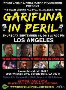 Garifuna In Peril Movie Sept 19th in Beverly Hills