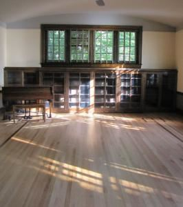 Library Rental $500.00, Twentieth Century Club, Lansdowne — Library with piano and fireplace