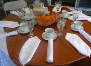 Brunch Starting At $9.95 per person, J & L Catering, Medway — Table arrangment for a Wedding