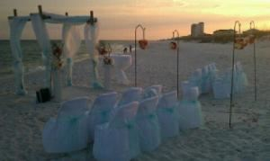 Gold Coast Event Services, Navarre — Beautiful Beach Wedding! Destination Brides love our prices, we have packages that include catering and beach wedding set up! Call us today for your wedding 850-313-0583