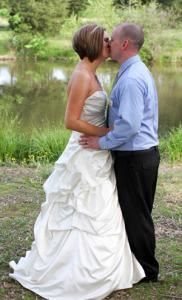 Wedding - Just the Two of Us - No Guests - Just the Bride and Groom, Cherith Hall at Corner Stone Farm, Red Oak — By the pond