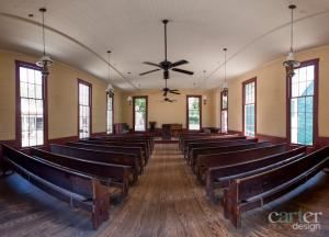 Auditorium Rental From $200, Old Alabama Town, Montgomery — The Old Church (by Carter Photo Design)