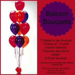 Balloon Table Bouquets , Creative Party Designs LLC, Upper Marlboro