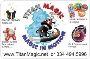 TITAN MAGIC SHOWS AND SALES