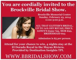 Brockville Bridal Show & Wedding Gown Sale