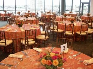 Wedding Package, Harbor Tower Events at Legg Mason Tower, Baltimore — The Cook Commons Dining Room is a beautiful location overlooking Baltimore Harbor with a neutral decor to allow for any style of event.