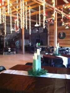 The Rock Barn, The Rock Barn, Henrietta — Main Room showing wedding setup for 180 guests