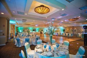 Atlantis Ballroom, Atlantis Ballroom at the TR Hotel, NJ, Toms River — The Atlantis Ballroom of the TR Hotel located in Toms River, NJ is perfect for weddings, bar mitzvahs, bat mitzvahs, sweet 16s, holiday parties, and more! For your next catered event, contact us at 732-731-8000 to hear about all our customizable package options.