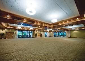 Cascades Ballroom, The Resort At The Mountain, Welches — The largest Resort event space, the Cascades Ballroom is divisible into four sections: Hunchback, Huckleberry, Zig Zag, and Wy'East.