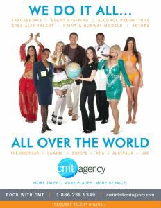 CMT Agency, New York — CMT Agency is a global provider of actors, models, tradeshow/event staffing and specialty talent.