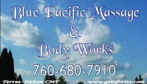 Blue Pacific Massage & Body Works, Hesperia — If you're looking for high quality and personal service, you've come to the right place. At Blue Pacific Massage you receive the attention and personal service you'll come to expect and enjoy. Offering only the best in Massage Services.