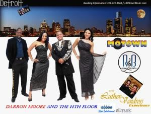 Darron Moore And The 14th Floor, Detroit — Darron Moore and The 14th Floor is a band covering Motown, R&B, Soul, Top 40, and The Luther Vandross Experience Tribute.