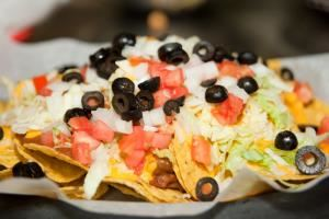 Catering Options, Raleighwood Cinema Grill, Raleigh — A plate of the Super Nachos