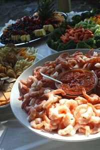 Buffet Dinner, The Wilds At Cedar Valley Golf Course, Thornton — Appetizers for all occasions.