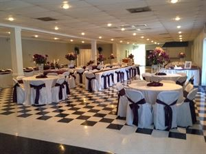 Magnolia Court Reception Hall, Lafayette — Indoor decorated for a wedding.