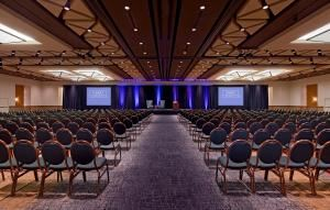 Ballroom A/B/C/D, Hyatt Regency Phoenix, Phoenix — Regency Ballroom is over 10,000 square feet.  It can accommodate general sessions to large weddings.  The ballroom divides into two to four sections.