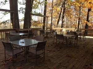 The Deck, First Colony Winery, Charlottesville — A two-tiered deck will accommodate up to 100 people.