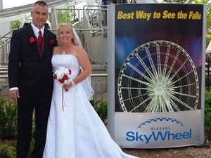 Niagara Skywheel Weddings / Ferris Wheel Weddings, Niagara Weddings and More, Niagara Falls — Preparing to board