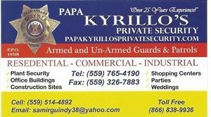 Papa Kyrillo's Private Security