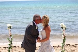 Swept Away, Ideal I Do's - Elegant Weddings To Go!, Miami — A lovely Swept Away Beach Wedding Package from Ideal I Do's