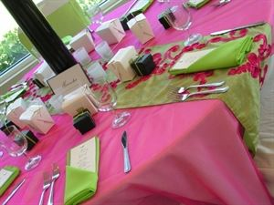 Wedding Platinum Package, Unique Events by Lina, Lodi — Our floor length tablecloth paired with our colored napkins.