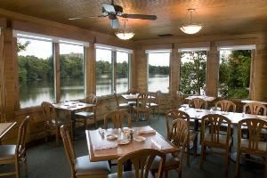 The Cypress Inn Restaurant, The Cypress Inn Restaurant, Tuscaloosa — Beautiful seating overlooking the Black Warrior River.