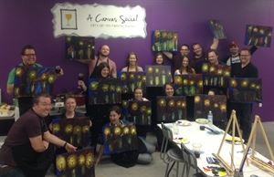 A Canvas Social,  $25 to $35 a person private byob painting  events