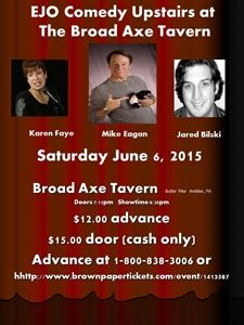 EJO Comedy Upstairs at The Broad Axe Tavern