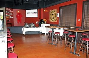 Sidelines, SKYBOKX 109 GastroSports, Natick — A great semi-private area for casual events!