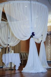 Bridal Drapes and lighting, Swanky Productions LLC, Alexandria — Round huppah
