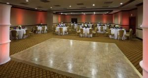 Working Lunch Buffets Starting At $16.00 Per Person, Hampton Inn Boston-Natick, Natick — Our ballroom with a dance floor.