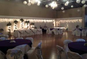 Ballroom/Conference Room, Events Etc, Tomball — We decorate in your colors, your choice of head tables, centerpieces and more. Tailored to fit your desires. Bring in your own items if you want.