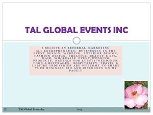 TAL Global Events Inc