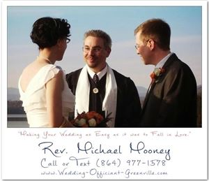 Wedding Officiant Greenville SC