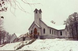 St Stephen's Anglican Catholic Church, Athens — St. Stephen's Church under a cloak of snow.