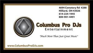 Columbus Pro DJs Wedding Entertainers