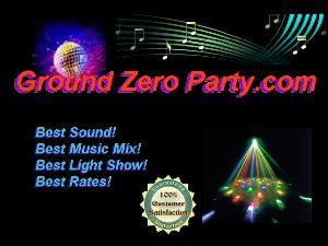 Ground Zero Entertainment, Kingman — The Tri-States Premier Mobile DJ Sevice. 30 Years experience. We a have State of the Art Sound and Lighting system. Best Rates with no hidden charges. Weddings, Holiday Parties, Anniversaries, Corporate Events, Reunions.